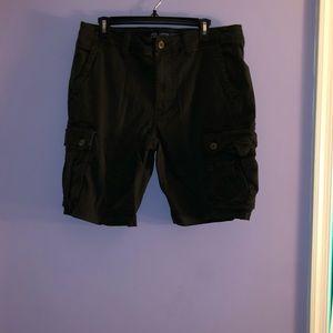 American Eagle Black Cargo Shorts